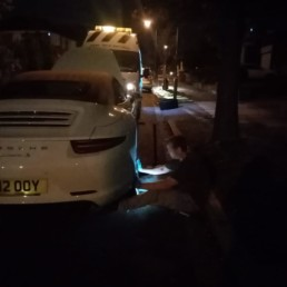 a tyre being replaced